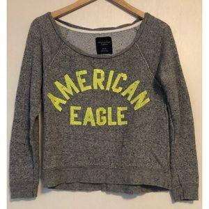 American eagle crew neck pullover graphic top